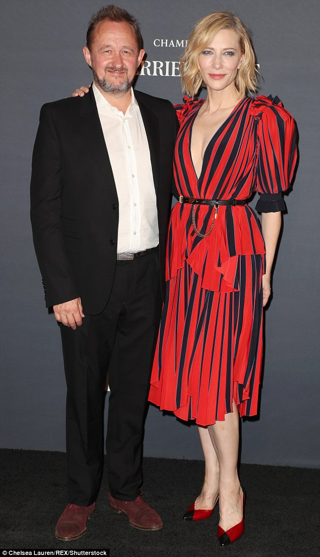 Family ties:Cate is mother to sons Dashiell John, 16, Roman Robert, 14, Ignatius Martin, 10, and adopted daughter Edith, four, with husband Andrew Upton (pictured), 52