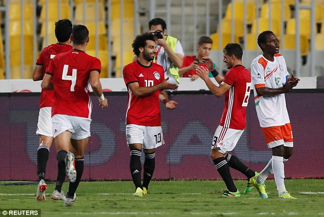 Mohamed Salah had a very eventful game as Egypt thrashed Niger 6-0 on Saturday