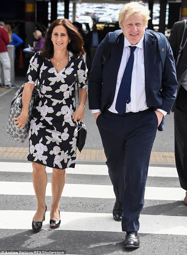 Marina Wheeler, 54, (left) learned of the ex-Foreign Minister's close relationship with 30-year-old Carrie Symonds after her marriage hit the rocks earlier this year