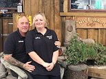 Kevin Baker, 54, runs the venue in Wadebridge, Cornwall, with his wife, Laura, 34, from a decorated shipping container made to look like a log cabin in a layby