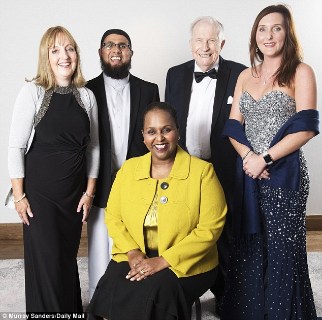 NHS Health Heroes finalists: Winner Sohier Elniel (seated) with runners-up Dr Susan Walker-Date, Mr Yakub Vali, Mr John Gaunt and Miss Amy Semper