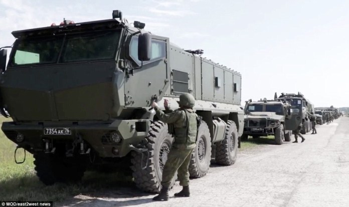 The Russian army is rolling out all its latest additions for the event including Iskander missiles that can carry nuclear warheads