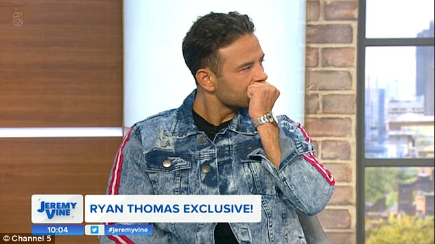 Tough times:He admitted his CBB appearance not something he was prepared for, as he said: 'I put this show off for a long time and it's not something I ever wanted to do. I was scared of showing the real me,. to put yourself under the spotlight is so hard'