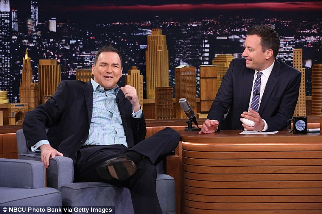 Macdonald said he and Fallon agreed he would not do the show as not to damage the brand, after Fallon revealed the staff's distress that Macdonald would appear (pictured: Macdonald, left, on The Tonight Show with Jimmy Fallon, right, on July 22, 2015)