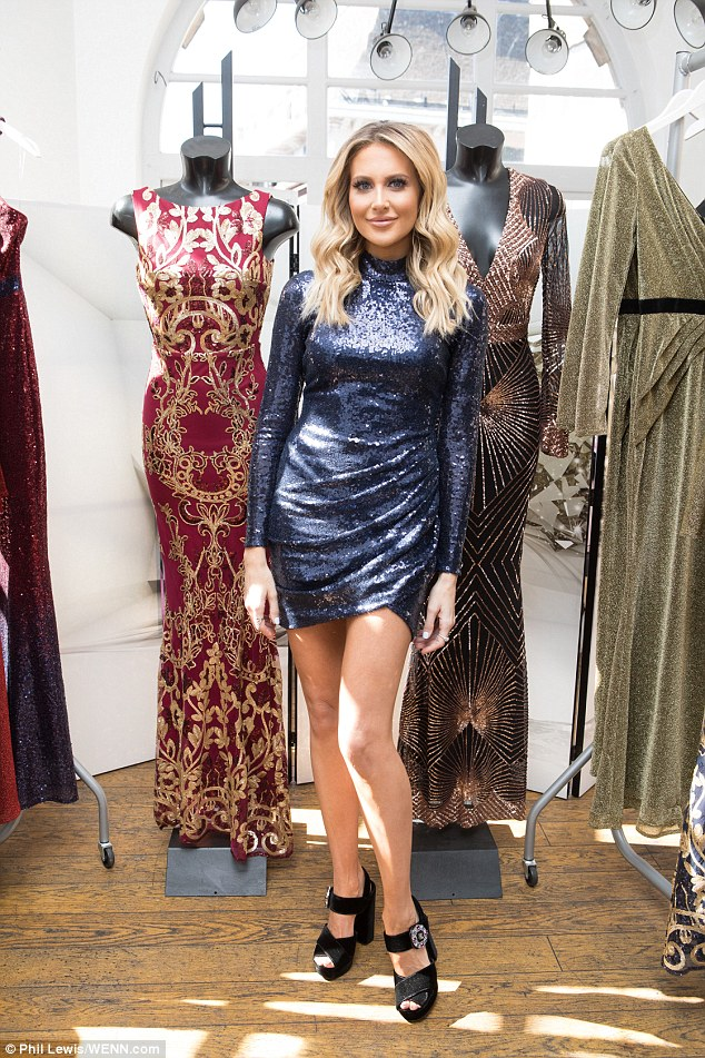 New range: Stephanie Pratt proved she's more than just a reality star as she debuted her latest clothing collection, French Kiss, for online retailer Goddiva on Thursday afternoon