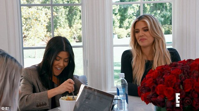 Family planning? While younger sister Khloe joked that Kourtney was 'at capacity' when it came to her large brood, the mother-of-three strongly disagreed
