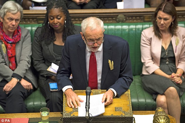 The London Mayor set up a sharp divide in his party just a week before the Labour conference as Jeremy Corbyn (pictured this week at PMQs) is still opposed to a new referendum