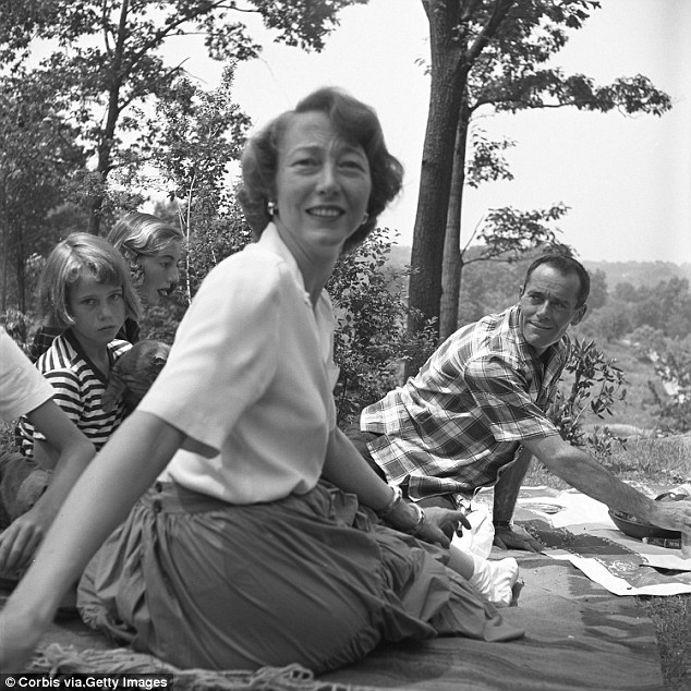 Tough to take:But it wasn't until she decided to write her memoir My Life So Far in 2005 that she found out that she'd actually taken her own life in a mental institution as a result of her battle with bipolar disorder; seen in 1949