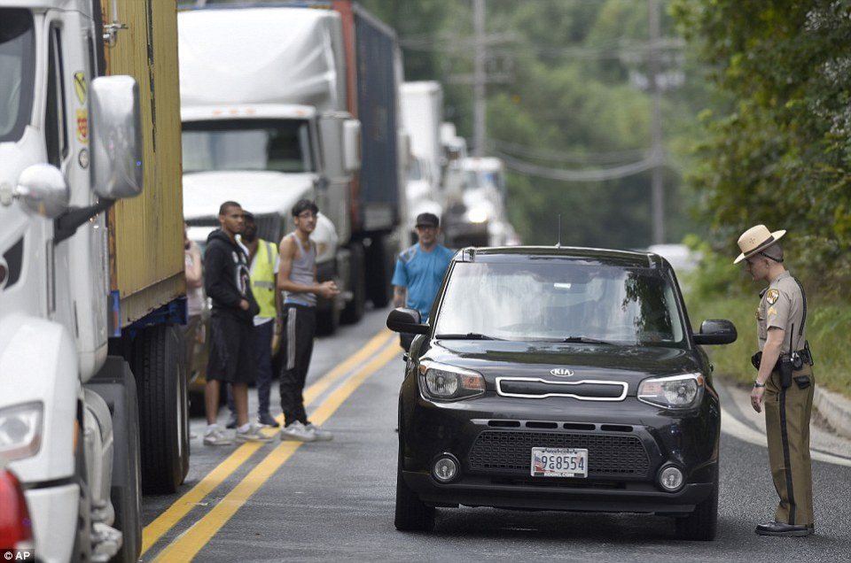 State troopers remained on the scene to direct traffic, which was severely affected by the incident, afterwards