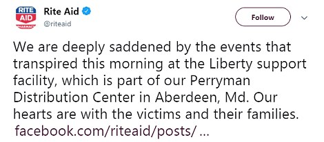 Rite Aid issued this statement on Thursday afternoon