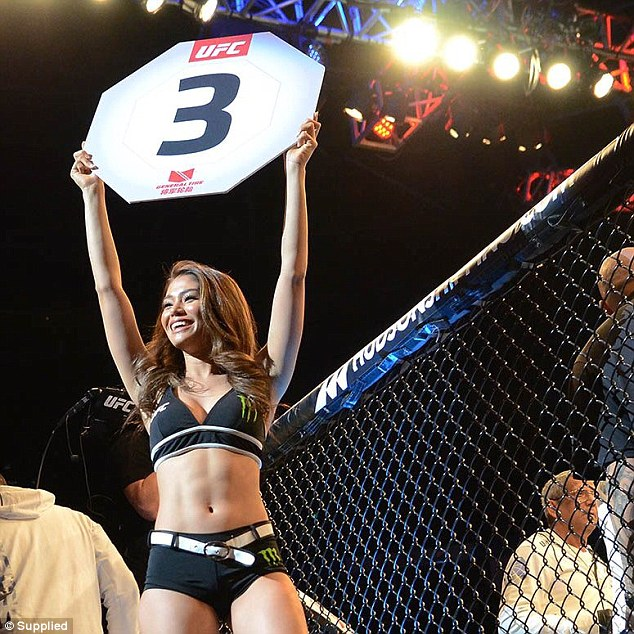 'I get to live these two very different lives and I know how lucky I am. Back home in Sydney I can live really quiet, normal. Then with the UFC it's bright lights and very exciting,' she said