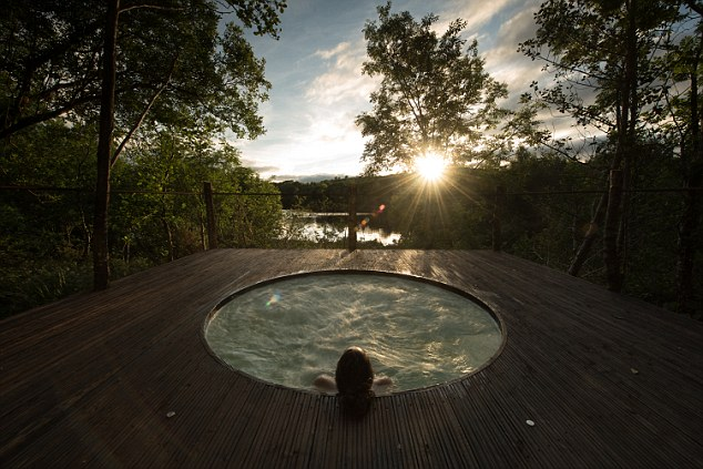 Soak it all in: The Nordic-inspired 'spa trail' experience features a hydro-pool hot tub