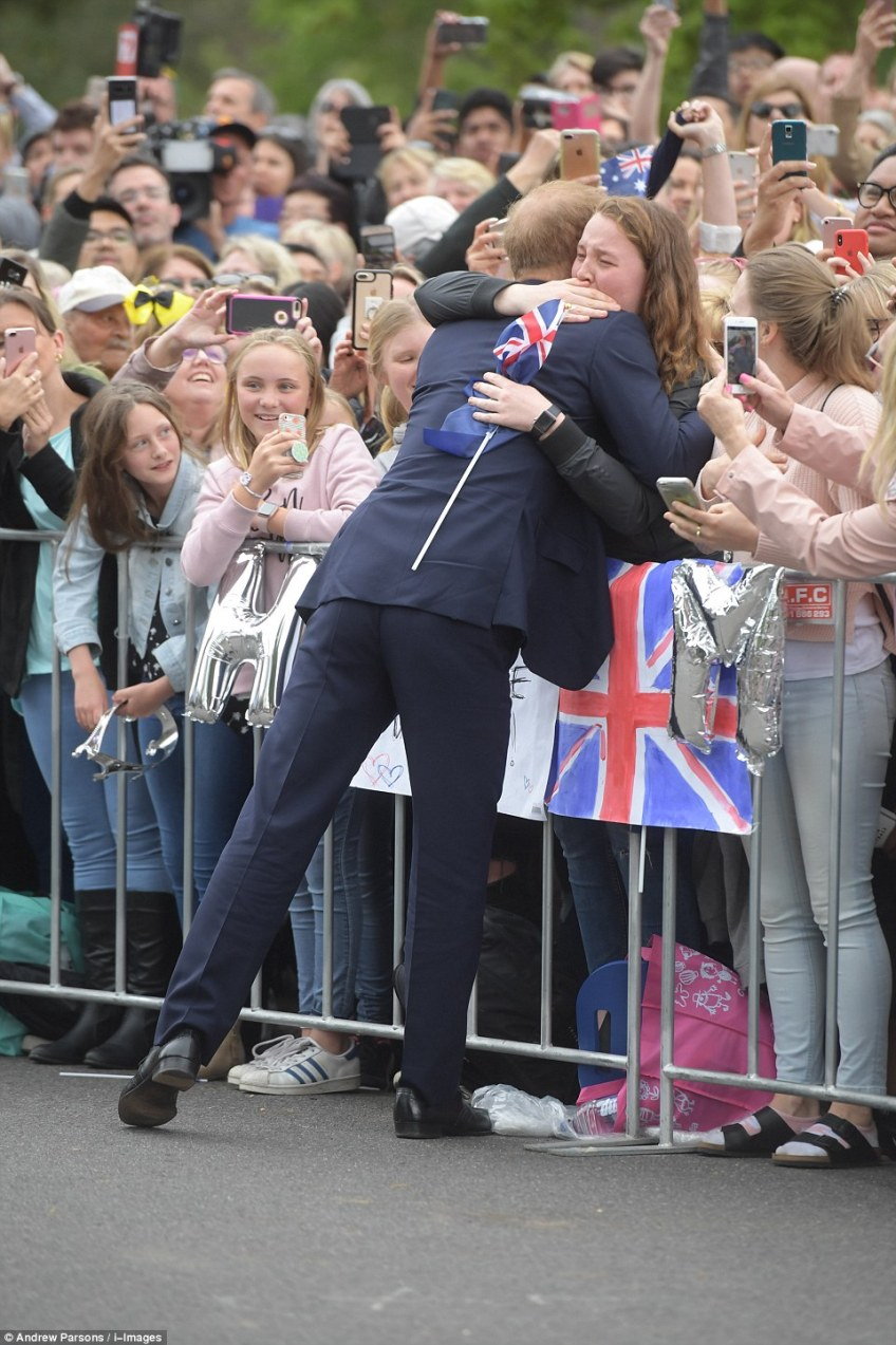 'You are going to get me in trouble,' India Brown (pictured) says the Prince told her after a protocol-breaking hug