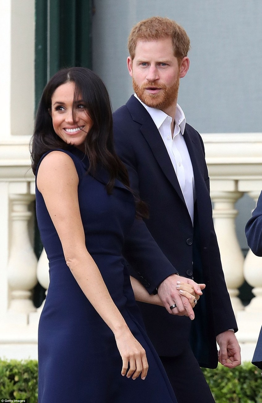 At a private lunch, the royal couple enjoyed a shared entree of mushroom and quinoa nest and chargrilled kangaroo and main courses of wild boar, saffron risotto and barramundi