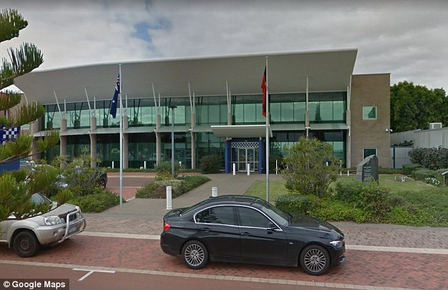 Geraldton Police (Geraldton police station is pictured) arrested three girls in connection with the incident on Wednesday morning