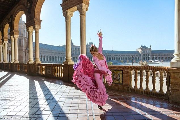 Dramatic: Flamenco is dancing in the elegant Plaza de Espana, built in 1929