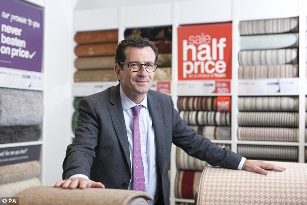 Wilf Walsh (above) took over Carpetright's position in 2014 when Lord Harris retired from the company