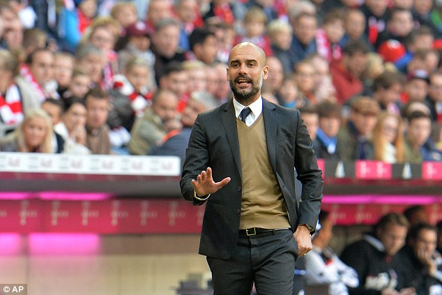 Pep Guardiola was pictured in October 2015, days after he allegedly signed a secret city contract