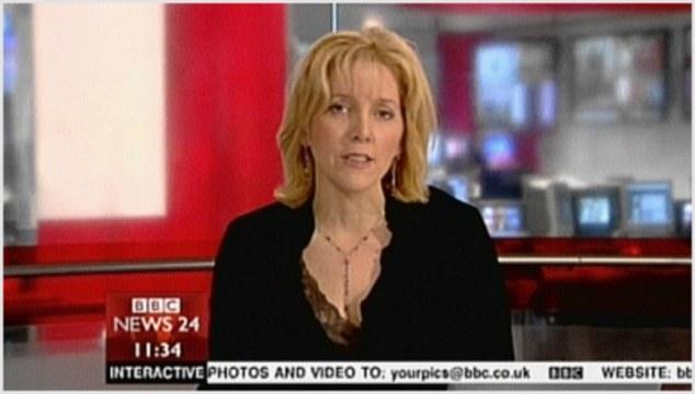 Fernsehmoderatorin Carrie Gracie in der Sendung BBC News 24 im Jahr 2009