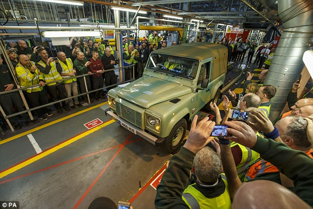Production of the iconic Defender ceased at the Solihull plant on Friday 29 January 2016