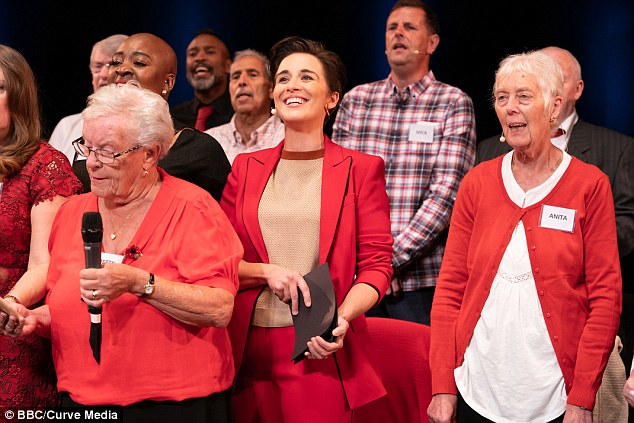Music therapy works. Online actor Vicky McClure (center) showed the wonderful health benefits again and again in Our Dementia Choir (BBC1)  t