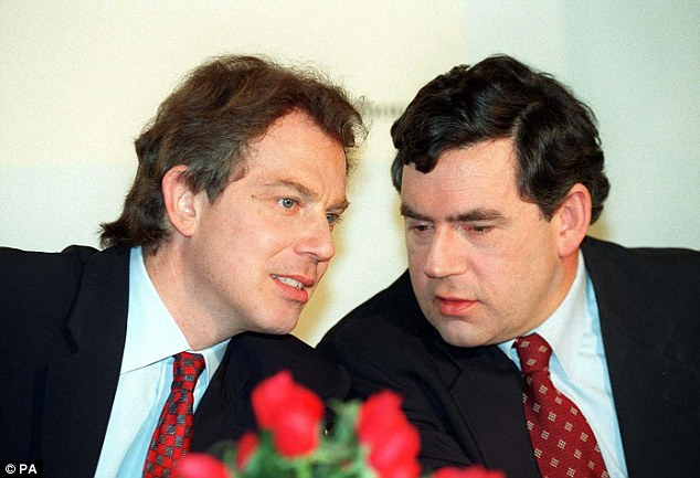 It was Mr Watson who was at the core of the rebellion by Labour MPs that helped drive Mr Blair (pictured left in 1995) out of power in 2007 so Mr Brown (right) could finally take over at No10