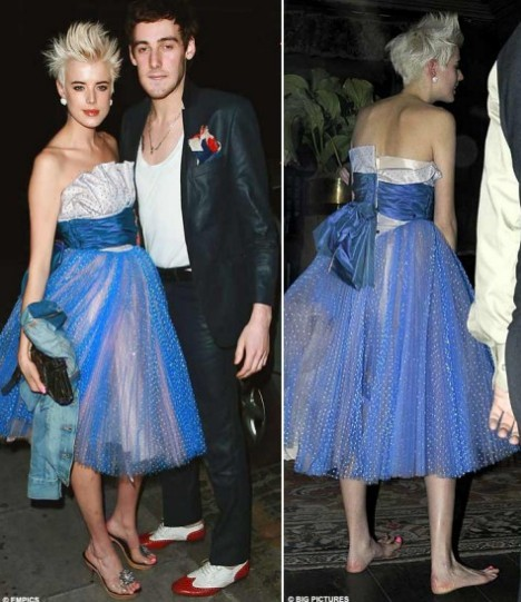 Agyness Deyn Turns Heads With Punk Prom Dress Look Daily