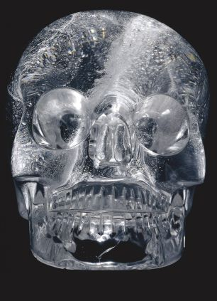 Rock crystal skull