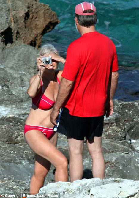 Helen Mirren on the beach in bikini 2