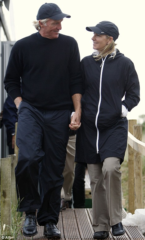 The Former Couple at the Open Championship in 2008.