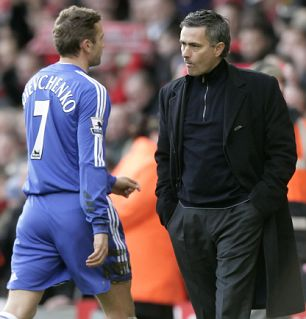 shevchenko and mourinho at chelsea