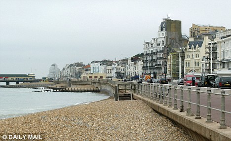 The attack happened at the popular seaside resort of Hastings