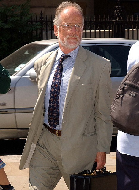 Professor David Kelly appearing at the House of Commons during the Iraq inquiry