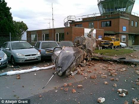 Crashed jet