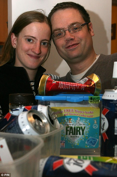 John and Ann Till went out and collected rubbish to recycle for three months and earn air miles to pay for their honeymoon