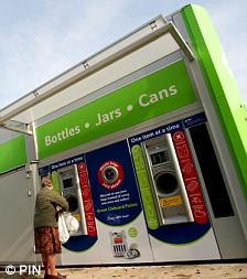 Tesco recycling machine