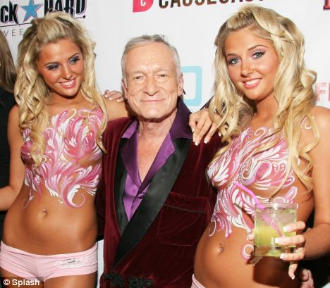 hugh hefner with karissa and kristina shannon