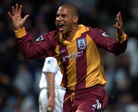 Collymore hit a spectacular goal on his Bradford debut.