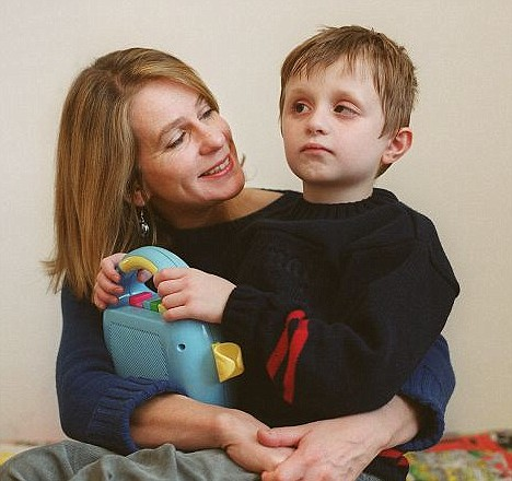 Motherly love: Virginia Bovell with Danny back in 2001 when he was eight