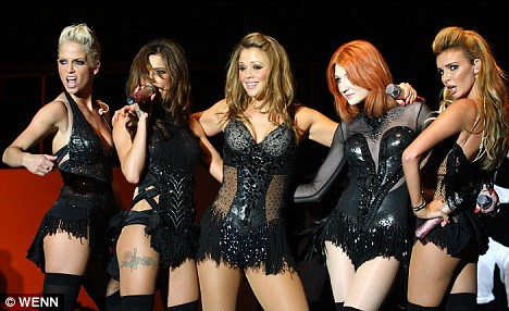 Girls Aloud, from left, Sarah, Cheryl, Kimberly, Nicola and Nadine, are to host their own show