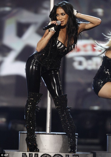 Nicole, of the Pussycat Dolls, performs at the American Music Awards