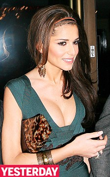 Cheryl Cole at the Mayfair Hotel