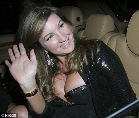Karren Brady is pictured arriving at The Vision Charity Ball