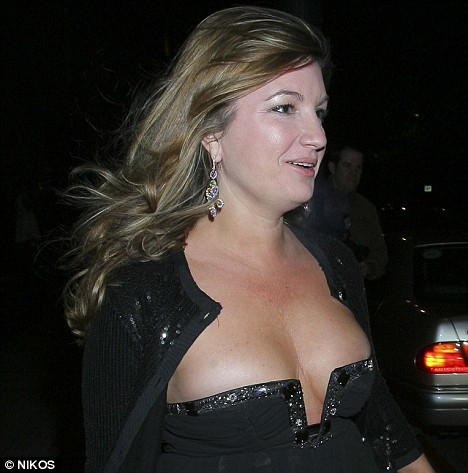 Karren Brady is pictured arriving at The Vision Charity Ball which was held at the Grosvenor Hotel