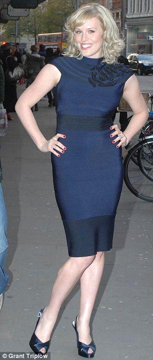 Rebecca Wilcox in the Herve Leger dress