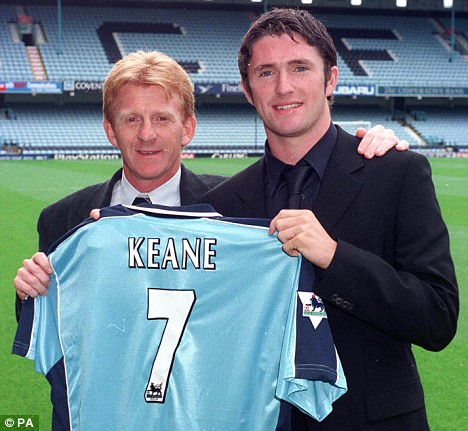 gordon strachan signs robbie keane at coventry city