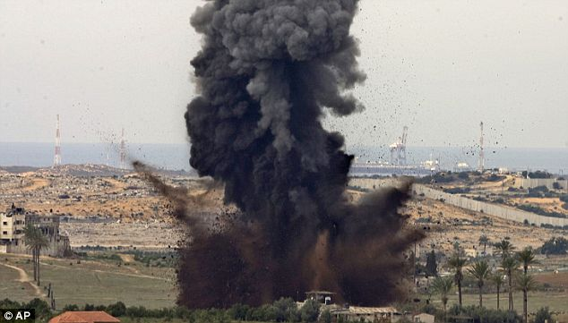 explosion gaza strip