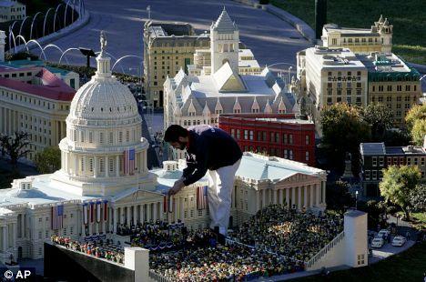 Die puny mortals, AAAARGH! Godzilla attacks Obamas inauguration