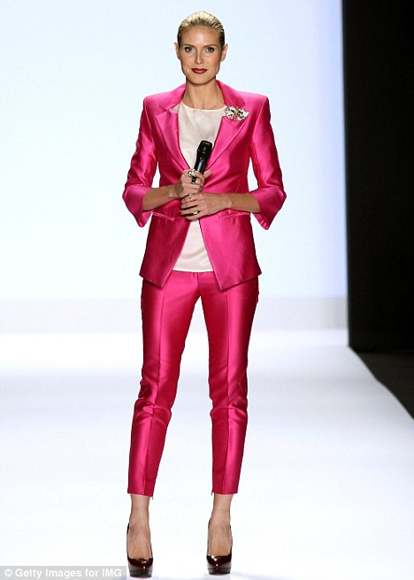 She's still got it: Heidi Klum on the runway at the Project Runway fashion show during New Yor Fashion Week