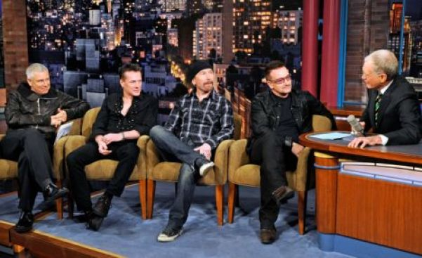 U2 on Late Show with David Letterman